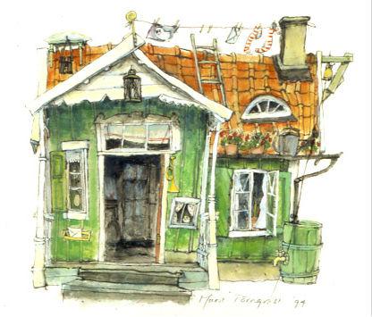 Karlssons huisje kleurontwerp