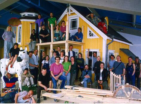 De kerngroep van de decorbouwers